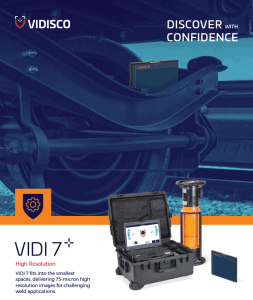 VIDI 7 portable X-Ray system for NDT